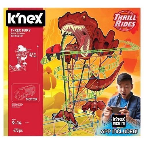 Image of KNex T-Rex Fury Rollercoaster sæt, 473 dele (0744476271525)