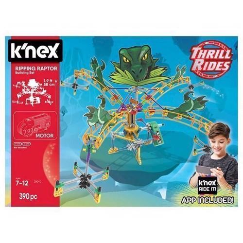 Image of KNex Riping Raptor Rollercoaster byggesæt, 390 dele (0744476280404)