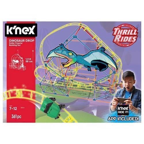 Image of KNex Dinosaur Drop Rollercoaster Kit, 361 dele (0744476280411)