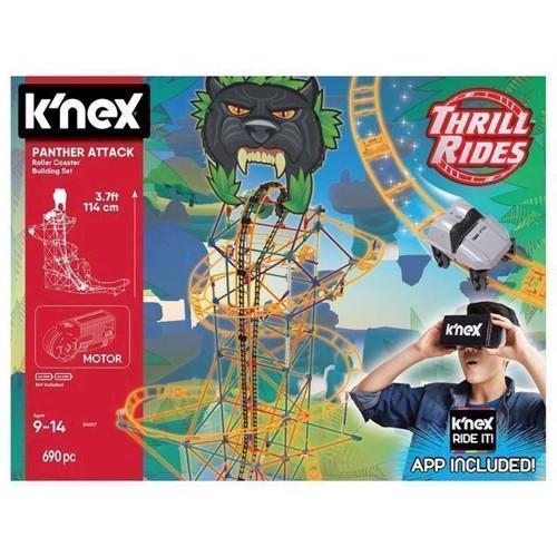 Image of KNex Panther Attack Rollercoaster byggesæt, 689 dele (0744476340474)