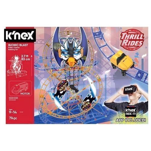 Image of KNex Bionic Blast Rollercoaster byggesæt, 809 dele (0744476340481)