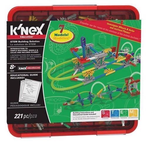 Image of KNex byggesæt, Intro til simple maskiner, hjul og aksler (0744476786203)