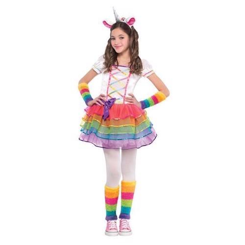 Image of Udklædning, regnbue enhjørning, 3-4 år