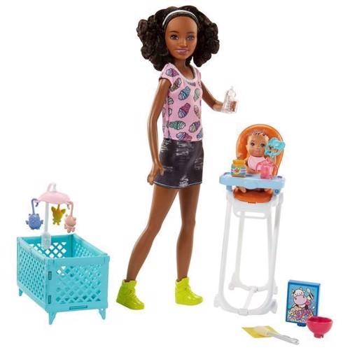 Image of   Barbie Babysitter med højstol