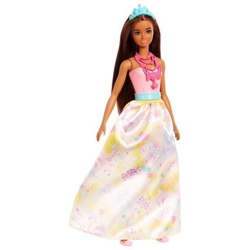 Image of   Barbie Dreamtopia Prinsesse, Mørk