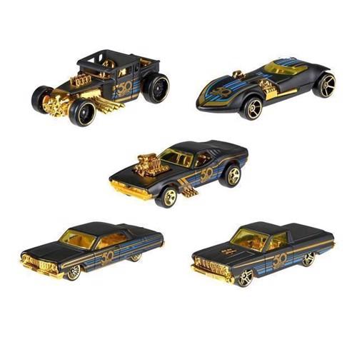 Image of Hot Wheels biler, 50 års jubilæum, sort & guld (0887961631708)