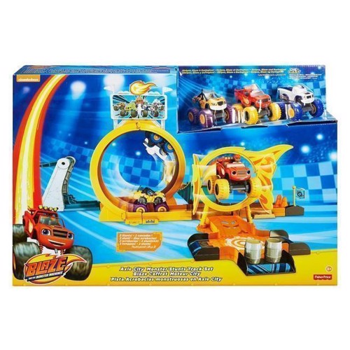 Image of Fisher Price Blaze og monstermaskinerne, Axel i byen legesæt med loops (0887961756531)