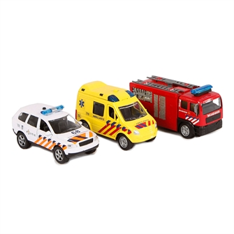 Image of 2-Play Die-cast Emergency Service Vehicles NL with Light and Sound