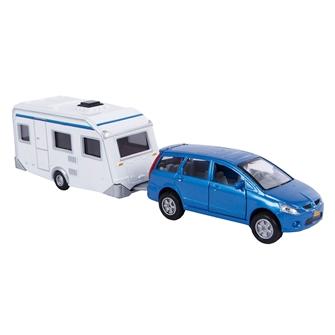 Image of   2-Play Die-cast Mitsubishi Car with Caravan, 29cm
