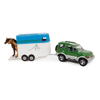 Image of 2-Play Die-cast Mitsubishi Car with Horse Trailer, 25cm