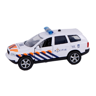 Image of 2-Play Die-cast Pull Back Politibil NL med lys og lyd (8713219340837)