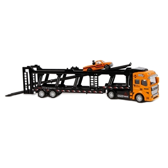 Image of 2-Play Die-cast Truck Transporter with Car, 32cm