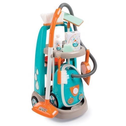 Image of Smoby rengørings Trolley med støvsuger (3032163303091)