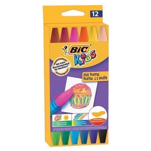 Image of   BIC Kids farvekridt, pastel, 12 stk