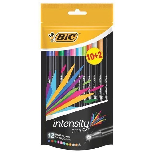 Image of   BIC Intensity Fineliners, 10 + 2st.