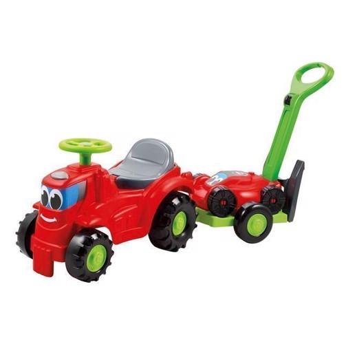 Image of   Ecoiffier Traktor med trailer og græsslåmaskine