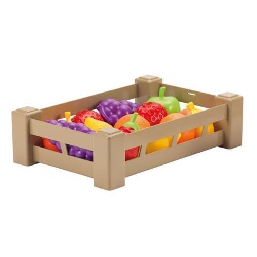 Image of   Ecoiffier legemad, kasse med frugt eller grøntsager