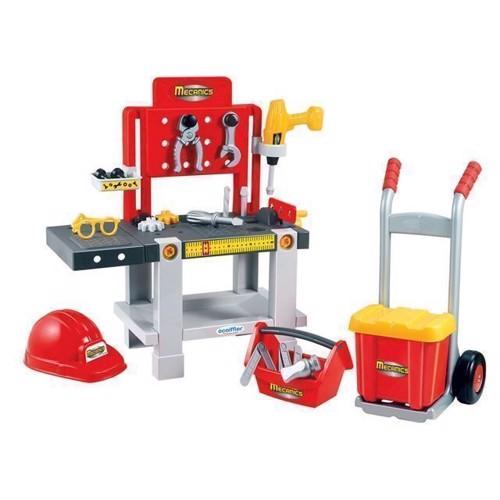 Image of   Ecoiffier mekanikerens arbejdsbord med udstyr