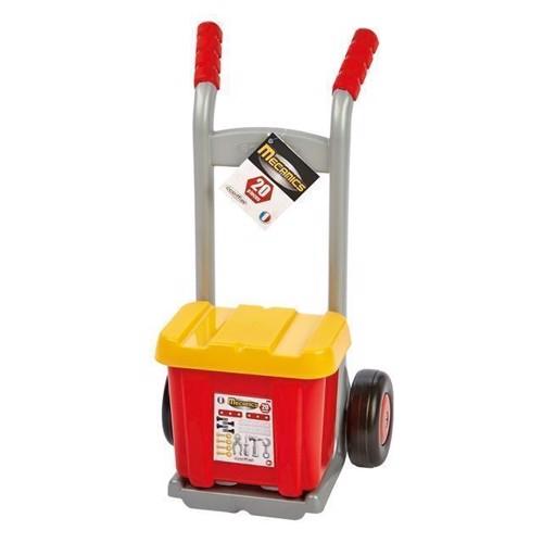 Image of   Sækkevogn med værktøjskasse, Ecoiffier