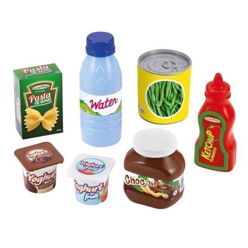 Billede af Ecoiffier legemad, kurv med lege mad 8 dele