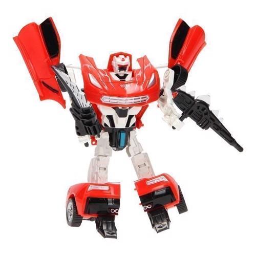Image of   Warrior transformer robot, rød