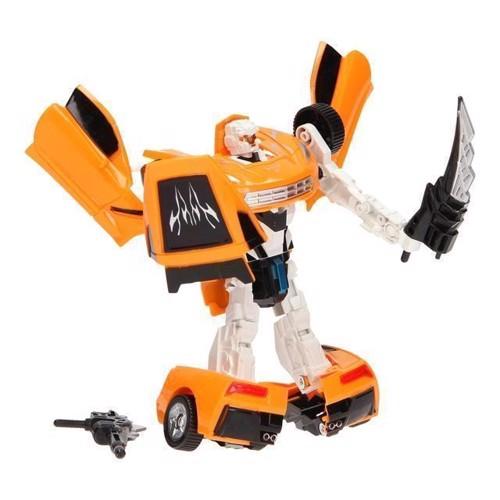 Image of   Warrior transformer robot, orange