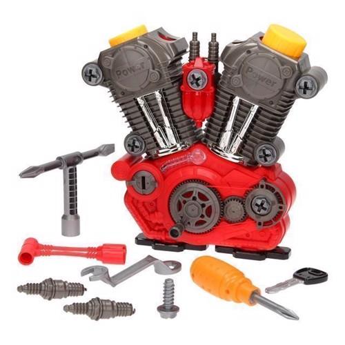 Image of   Legetøjsmotor, Byg din egen motor. Med lys & lyd