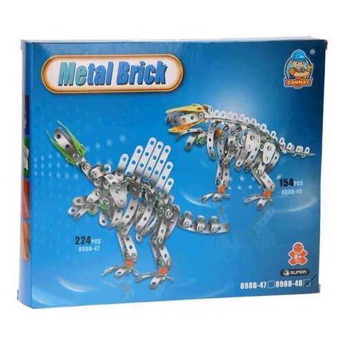 Image of Metal byggesæt, dinosaur (3800966009164)