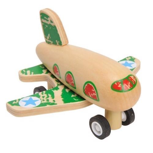 Image of Flyvemaskine i træ med pull back