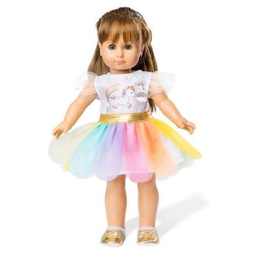 Image of Dukketøj, enhjørning kjole, til dukker på 28-35 cm