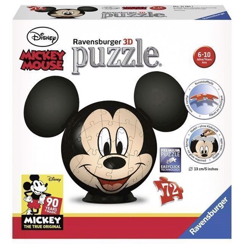 Image of Puslespil, bold, Mickey mouse, 72 brikker