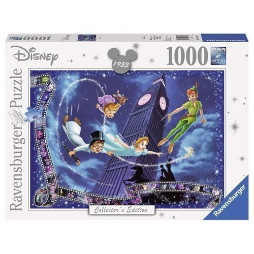 Image of   Disney puslespil, Collectors Edition Peter Pan, 1000 brikker