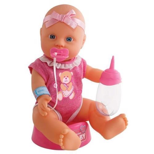 Image of Baby dukke med tilbehør, 4 dele, New Born Baby (4006592018955)