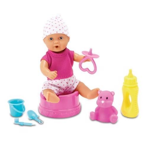 Image of   Mini new born baby dukke med tilbehør