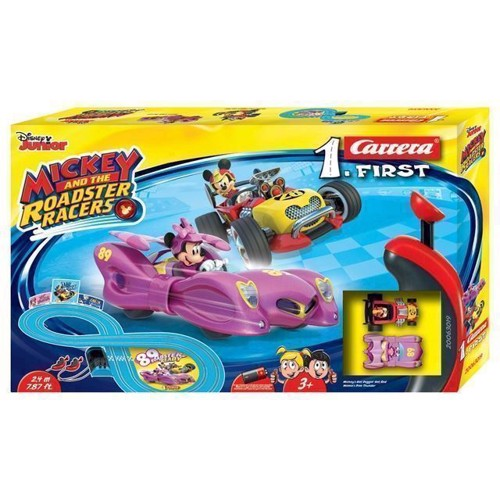Image of Carrera First Race Track racerbane. Mickey Roadster Racers med Minnie (4007486630192)