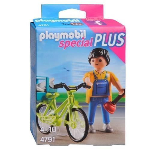 Image of Playmobil 4791 Handyman med cykel (4008789047915)