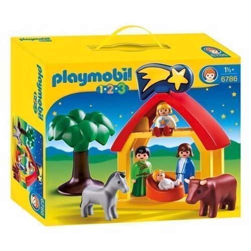 Image of Playmobil 1.2.3 6786 Krybbespil (4008789067869)