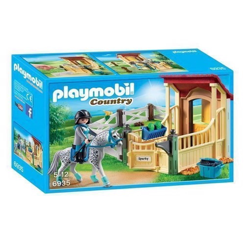 Image of Playmobil 6935 Hesteboks Med Appaloosa Hest