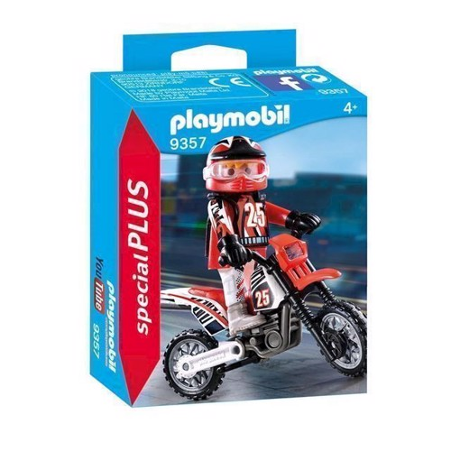 Image of Playmobil 9357 Motocrosskører (4008789093578)