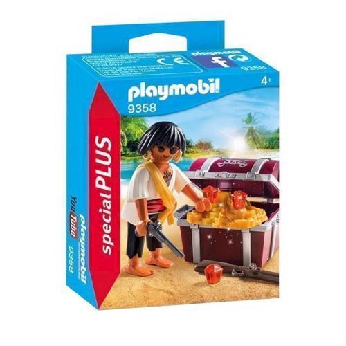 Image of Playmobil 9358 Pirat med skattekiste (4008789093585)