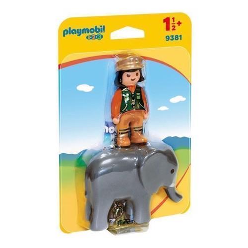 Image of Playmobil 9381 Dyrepasser med elefant (4008789093813)