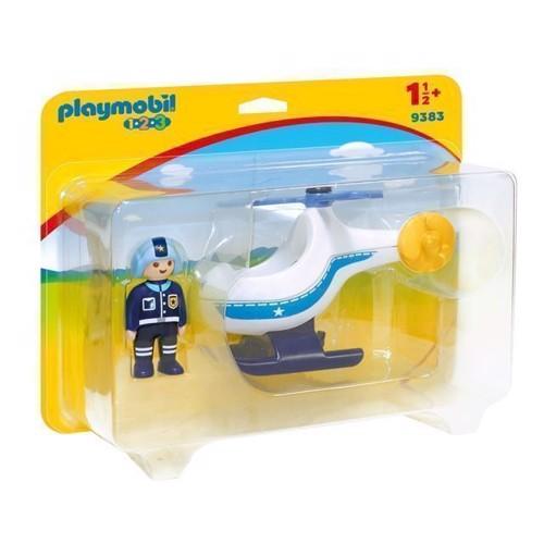 Image of Playmobil 9383 Politi Helikopter (4008789093837)