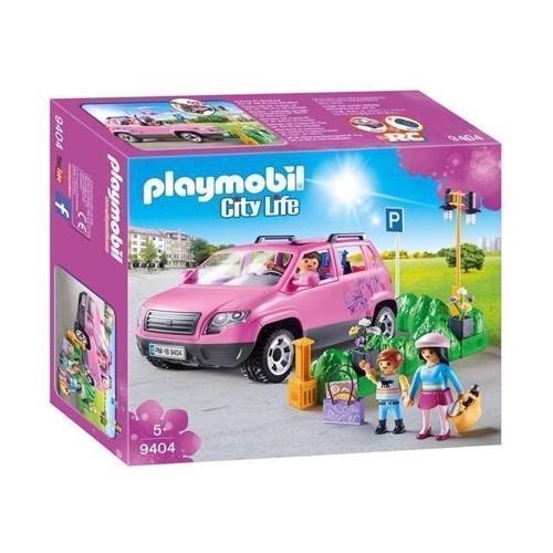 Image of Playmobil 9404 Familiebil med parkeringsplads (4008789094049)
