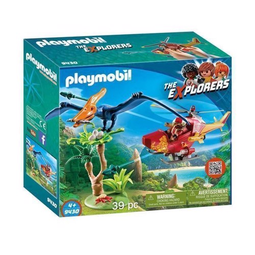 Image of Playmobil 9430 Helikopter med Pteranodon (4008789094308)