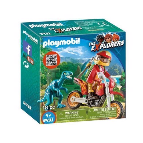 Image of Playmobil 9431 Crosser med Raptor (4008789094315)