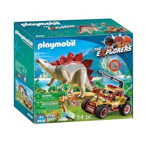 Image of Playmobil 9432 Explorers buggy med Stegosaurus (4008789094322)
