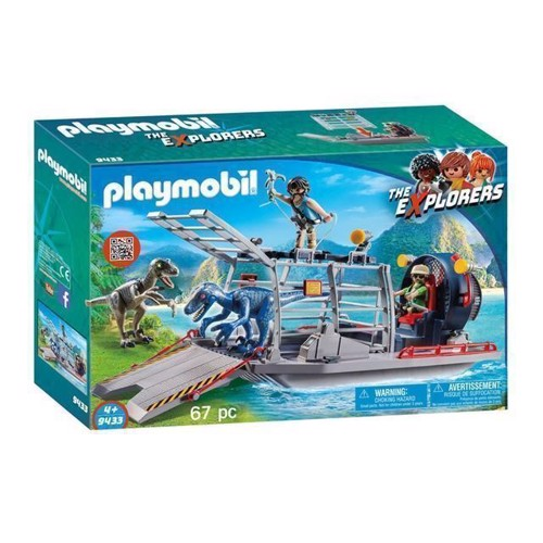 Image of Playmobil 9433 Sumpbåd & Raptor (4008789094339)