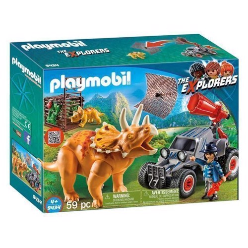 Image of Playmobil 9434 Offroad Buggy med dinosaur net (4008789094346)