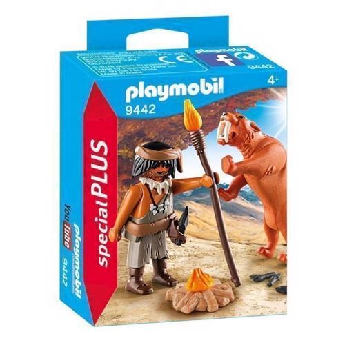 Image of Playmobil 9442 Neandertaler med sabeltiger (4008789094421)
