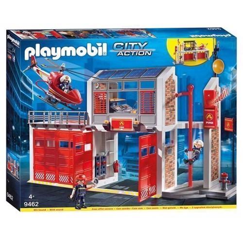 Image of Playmobil 9462 Stor Brandstation Med Helikopter